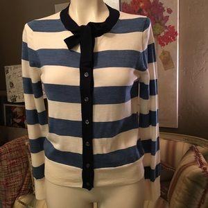 J. Crew Striped Merino Wool Cardigan Sweater S